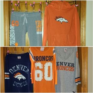 Victoria secrets PINK Denver Broncos Bundle